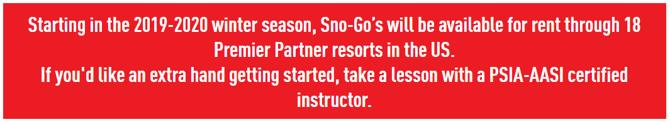 Announcing Sno-Go's Premier Partners